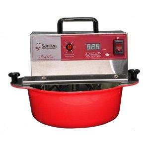 Panela Amadinha Elétrica 5 litros Alumínio Vermelha - Bivolt, 6 velocidades, fio anti chamas e timer