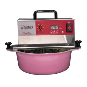 Panela Amadinha Elétrica 5 litros Alumínio Rosa - Bivolt, 6 velocidades, fio anti chamas e timer int
