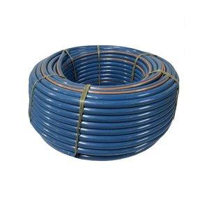 """Mangueira Plástica Azul Marcação Laranja 2"""" x 5mm Rolo 100 metros - Volpato"""