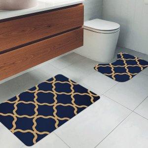Jogo Tapetes para Banheiro 2 Peças Old Abstract Único