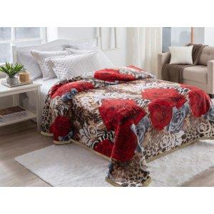 Cobertor Jolitex Dyuri Pelo alto Casal Toque Macio Solimoes
