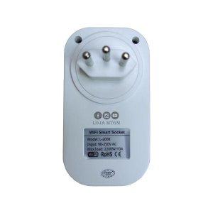Tomada Elétrica Inteligente Wi-Fi Smart Plug Soquetes Celular Bivolt - para Alexa e assistente de Go