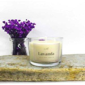 Vela Aromática Perfumada Lavanda Decorativo