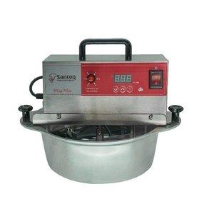 Panela Amadinha Elétrica 5 litros Alumínio Prata - Bivolt, 6 velocidades, fio anti chamas e timer in