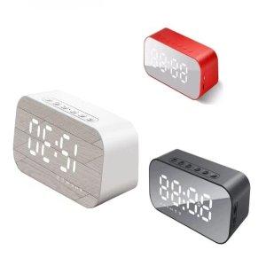 Caixa De Som Bluetooth Radio Relogio Despertador Digital Espelhado Fm Usb Tf Card