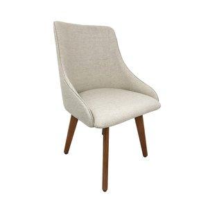 Cadeira Estofada Catânia Premium Moderna em Tecido Branco