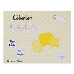 Cobertor Baby 80cm x 120cm Antialérgico Gijo - Ref: GXGIJO - Amarelo 301