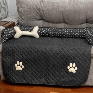 Capa Protetor de Sofá Pet Impermeável Cachorro Gigante - Preto