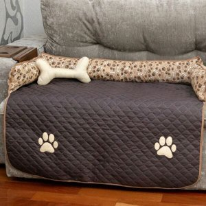 Protetor Sofá Pet Impermeável Gigante Cachorro Oferta - Tabaco
