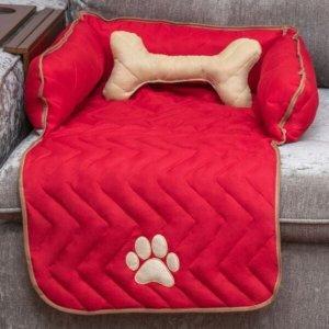 Protetor Sofá Pet Oferta Cachorro e Gato Mascote Pequeno - Vermelho