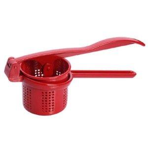 Espremedor Amassador De Batata Manual De Alumínio Vermelha