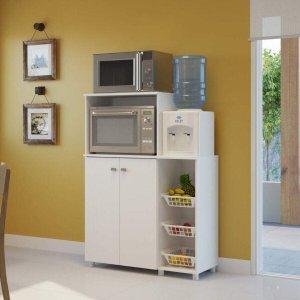 Armário Multiuso para Forno e Microondas com Fruteira Espresso Móveis