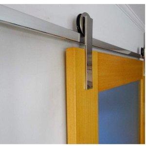 Kit para Porta de Correr 1,5 Metros Alumínio Polido Alumina Geris