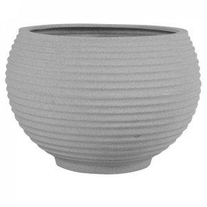 Vaso para Plantas Redondo em Polietileno 34 Esfera Latticce 27cmx23cm Japi