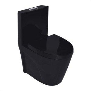 Vaso Sanitário Monobloco Completo Caixa Acoplada Privada Preto modelo Unio Tubrax