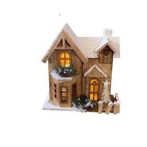 Casinha Decorativa Natal Com Cerca 33cm