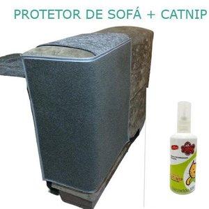 Arranhador de Gato / Protetor De Sofá ( 2 unidades) e 1 Cat Nip:cinza