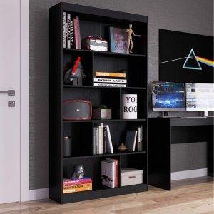 Estante para Livros 4 Prateleiras Home Office Espresso Móveis