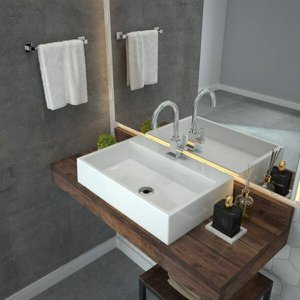 Cuba para Banheiro RT55W Retangular Florenza Compace
