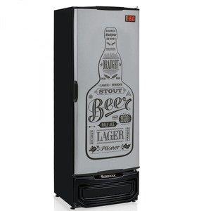 Refrigerador Vertical Cervejeira 410L Porta Cega 127V Tipo Inox Gelopar
