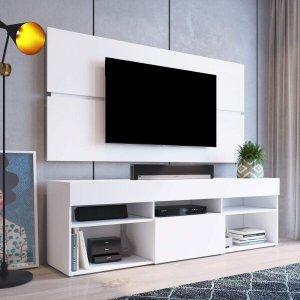 Rack com Painel Para TV até 55 Polegadas e 1 Porta Miami Beach Yescasa