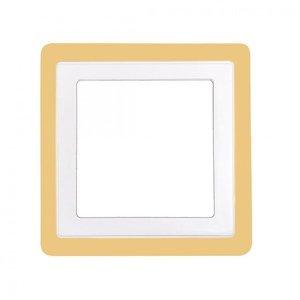 Painel LED 18w e 6w Dual Color Quadrado Embutir 3000k e 6500k Taschibra