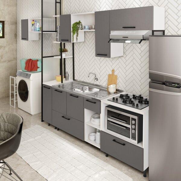 Cozinha Modulada Compacta 11 Peças Araguaia CabeCasa MadeiraMadeira