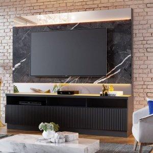 Estante Home Theater com LED para TVs até 70 Polegadas Marajó Colibri Móveis