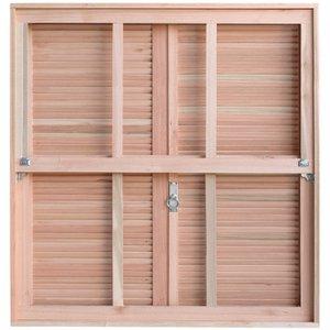 Janela com Caixilhos Guilhotina para Vidros Quadriculados e Venezianas de Abrir Rondosul